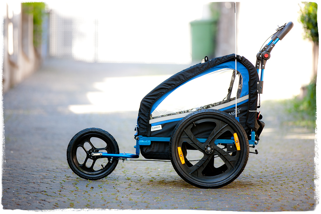 fahrradanh nger kinder 2 in 1 von teamsix jogger und trailer alu edition bt2. Black Bedroom Furniture Sets. Home Design Ideas